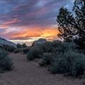 Blazing sunset at White Pocket.- White Pocket