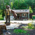 Campground office and store. - Bear Brook State Park