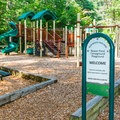 Playground in the campground.- Bear Brook State Park