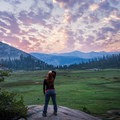Sunrise and sunset are pure magic in Yosemite.- Sunrise Lakes