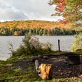 Easy access to the water from a campsite.- Grout Pond Campground