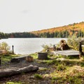 Typical campsite at Grout Pond Campground.- Grout Pond Campground