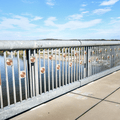 Commemoratives to donors.- Walkway Over The Hudson