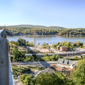 Looking west over the north side from Poughkeepsie.- Walkway Over The Hudson