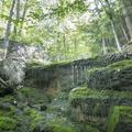 A cascading brook along the trail.- Brace Mountain