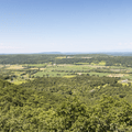 The trees open up with views to the west.- Brace Mountain