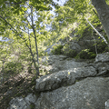 A steep and rocky ascent.- Brace Mountain