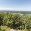 Higher views of the Hudson Valley to the southwest.- Brace Mountain