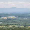 The Catskill Mountains to the west.- Brace Mountain