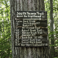 Trail sign along the South Taconic Trail.- Brace Mountain