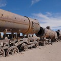 Great Train Graveyard in Uyuni, Bolivia.- Solar de Uyuni: Incahuasi Island + Train Cemetery