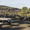 View of the lava from the campground.- Lava Flow Campground