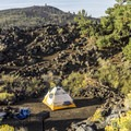 Campsite among the lava piles.- Lava Flow Campground