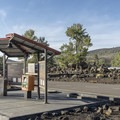 The campground has a registration machine if the entrance kiosk is closed.- Lava Flow Campground