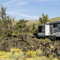 Typical site along the lava flow.- Lava Flow Campground