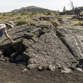 The trail winds through the lava flow.- Broken Top Loop Hike