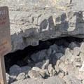 Cave entrance.- Broken Top Loop Hike