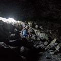 Exploring the caves.- Broken Top Loop Hike