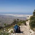 Views over Salt Flat, Texas.- Guadalupe Peak Trail
