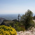 Views of the backcountry campsite two-thirds of the way up the trail.- Guadalupe Peak Trail