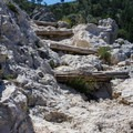 Steps on the far side of the mountain. - Guadalupe Peak Trail