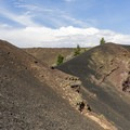 Big crater view.- North Crater Trail