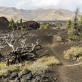 The trail crosses very interesting terrain.- North Crater Trail