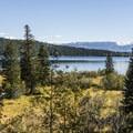 From the top of Phelps Lake.- Phelps Lake Loop Hike