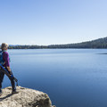 "The ""jumping rock.""- Phelps Lake Loop Hike"