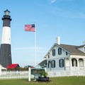 The tower and grounds of the Historic Tybee Light Station are open for visitation.- Tybee North Beach + Lighthouse