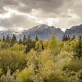 The Tetons in fall.- Beaver Creek and Taggart Lake Loop Hike