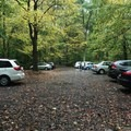 The parking lot for cars for the walk-in campsite.- Kentuck Campgrounds