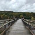 The walking bridge.- Kentuck Campgrounds