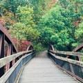 Walking bridge in Ohiopyle.- Kentuck Campgrounds