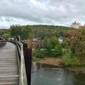 The town of Ohiopyle from the walking bridge.- Kentuck Campgrounds
