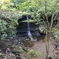 Cucumber Falls from the top of the hill.- Cucumber Falls