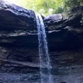 Cucumber Falls from below. Low flows provide more opportunities to explore.- Cucumber Falls