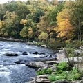 Beautiful fall colors along the Youghiogheny River.- Cucumber Falls