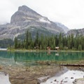 The cabins at Lake O'Hara.- Lake Oesa