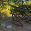Sculpture on the path.- Cooper Mountain Nature Park