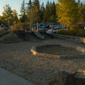 Playground at the parking lot.- Cooper Mountain Nature Park
