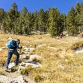 The first leg of the trail is a steep 600-foot climb.- Gaylor Lakes Basin