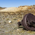 Mining equipment at the site.- Gaylor Lakes Basin