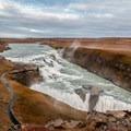 Gullfoss has two sets of waterfalls.- Gullfoss