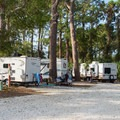 Smaller RV sites. These fill up quickly, so make a reservation.- River's End Campground