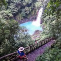 Steps down to the falls.- Rio Celeste