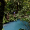 Hanging bridge.- Rio Celeste