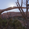 Landscape Arch along the way.- Dark Angel Hike
