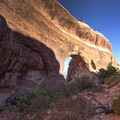 Many people never take the time to check out these two arches just off the trail.- Partition Arch