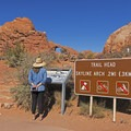 Interpretive signs at the trailhead- Skyline Arch Trail